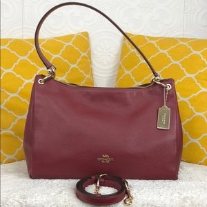 🌸OFFERS?🌸Coach Pebbled Leather Red Shoulder Bag